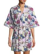Bedhead Floral Jewels Short Robe