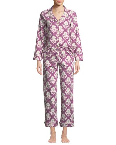 Plus Size Ikat Classic Pajama Set