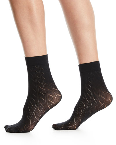 c8c454217f3 Quick Look. Wolford · Florence Zigzag Ankle Socks. Available in Black