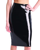 Commando Perfect Patent Faux-Leather Midi Skirt Shaper