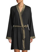 Cosabella Becca Metallic-Trim Robe and Matching Items &