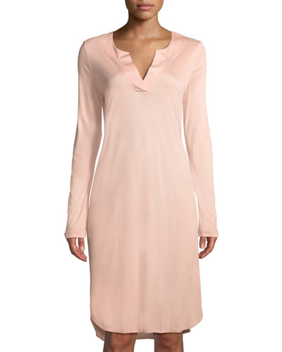 Malie Long-Sleeve Nightgown