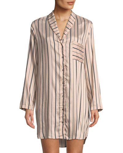 Malie Striped Sleepshirt