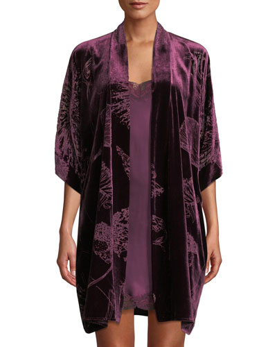 Quick Look. Christine Lingerie · Faberge Floral Velvet Short Robe 201a73ca5