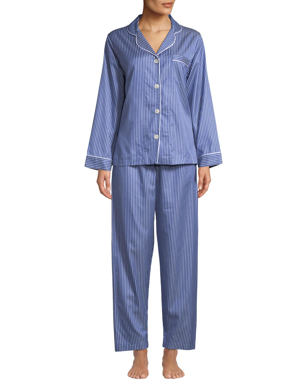 St. Andrews Striped Pajama Set in Blue/White