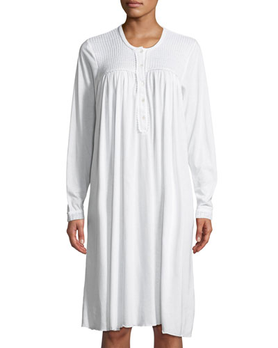 Begoa Long-Sleeve Short Nightgown