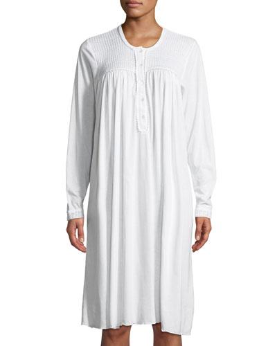 Begoa Long-Sleeve Short Nightgown