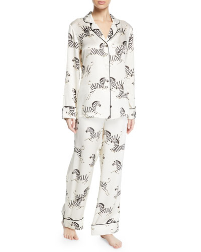Lila Zebedee Zebras Classic Pajama Set