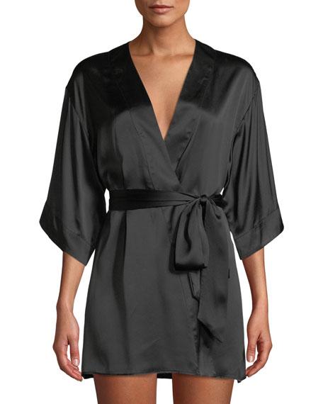 Kiki De Montparnasse Silk Short Robe