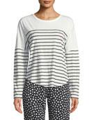 PJ Salvage True Love Long-Sleeve Striped Lounge Shirt