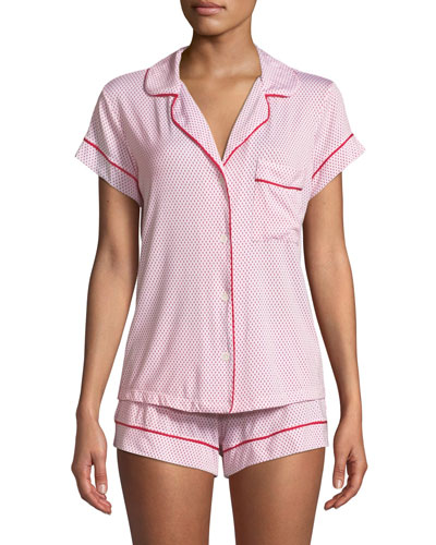 04eb104378d Quick Look. Eberjey · Geo Dot Shortie Jersey Pajama Set