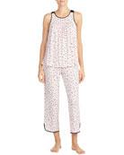 kate spade new york evergreen sleeveless cropped pajama