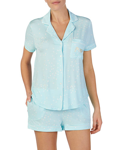 bridal shorty pajama set
