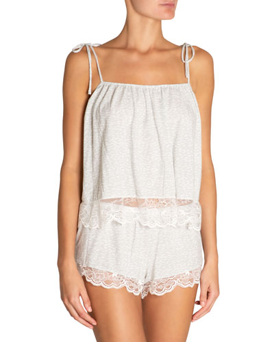 Abstract Animal Coquettish  Pajama Camisole Top