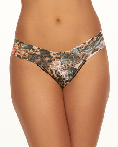 Safari Bloom Lace Low-Rise Thong