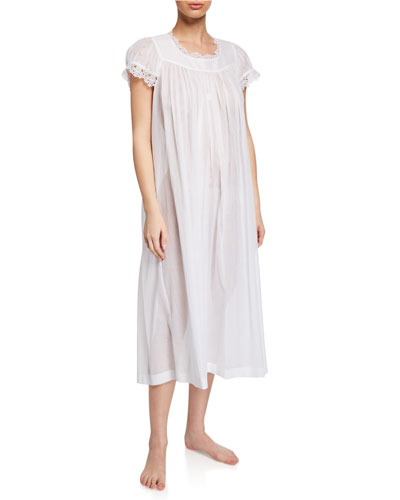 Miri Scoop-Neck Cap-Sleeve Nightgown