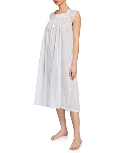 Tonight Square-Neck Sleeveless Nightgown