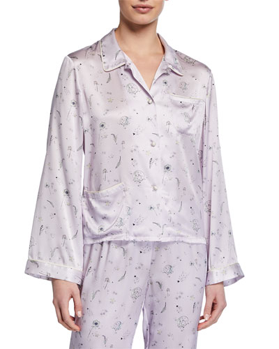 Ruthie Night Garden Pajama Top