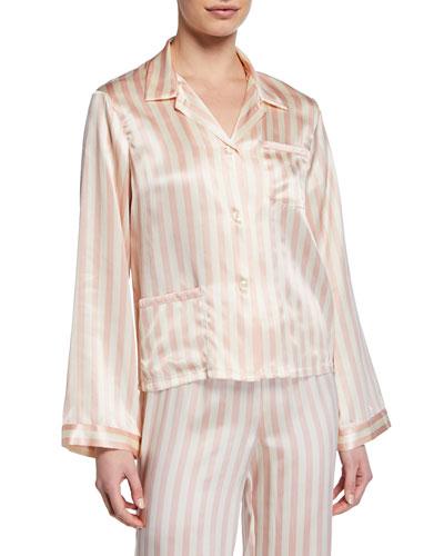Ruthie Petal Stripe Pajama Top