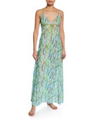 La Costa Del Algodon Severine Floral-Pattern Long Nightgown