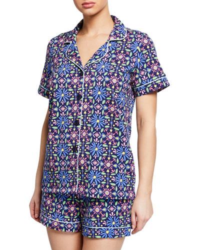Spanish Tile Shorty Pajama Set