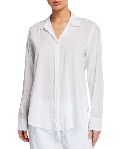 Beau Solid Poplin Lounge Shirt
