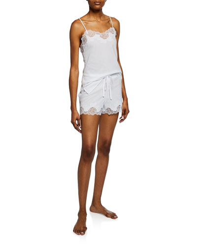 Lace-Trim Camisole Short Set