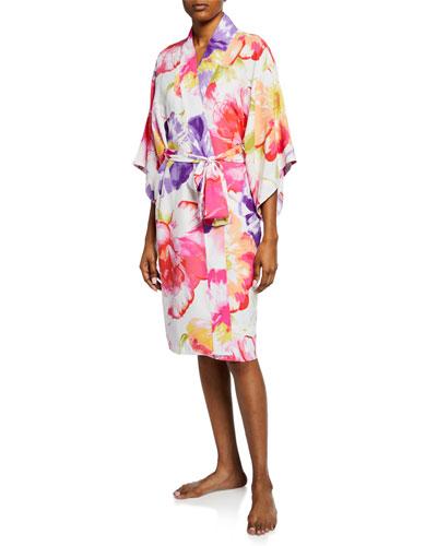 Soleil Floral-Print Robe