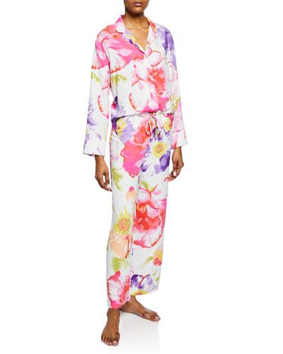 Soleil Floral-Print Pajama Set