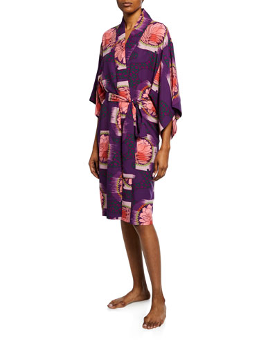 Terra Floral-Print Robe