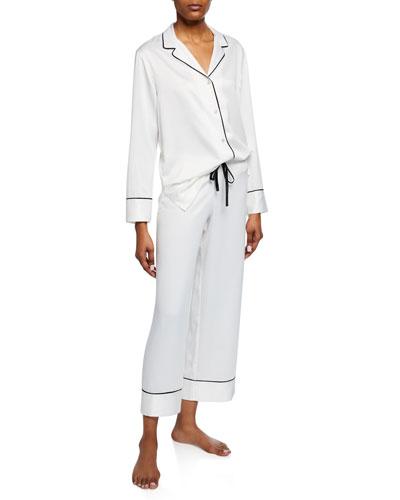 Feathers Satin Essentials Pajama Set