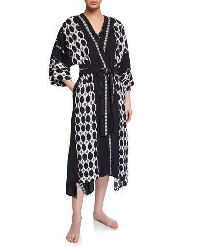 Utopia Graphic-Print Long Robe