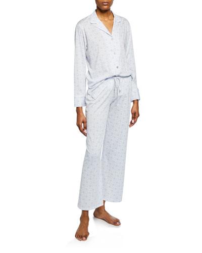 Gem Tonal-Print Pajama Set
