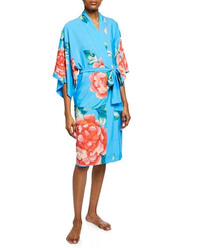 Nova Floral-Print Robe