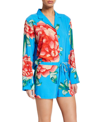 Nova Long-Sleeve Shorty Pajama Set