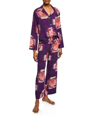 Terra Floral-Print Pajama Set