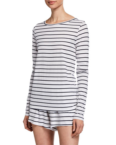 Addison Striped Long-Sleeve Tee