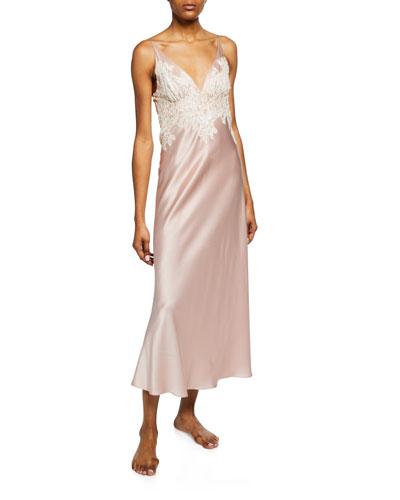 d9e02fa28c76f Lace Trim Silk Pajama | Neiman Marcus