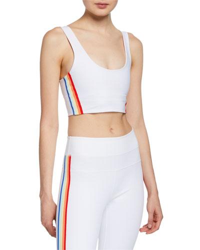 Shakti Side-Stripe Scoop-Neck Sports Bra