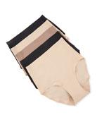 Chantelle 5-Pack Soft-Stretch Full Bikini Briefs