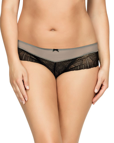 Vanna Lace Hipster Briefs, Black