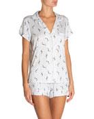 Eberjey Mermaids Shorty Pajama Set
