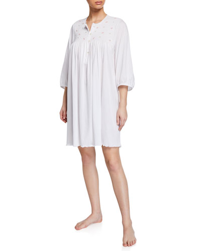 Lisa 3/4-Sleeve Cotton Nightgown