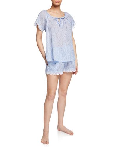 Nansu Floral Short Pajama Set