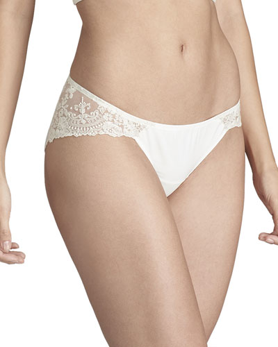 Tresor en Blanche Lace-Back Bikini Briefs
