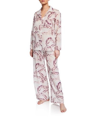 Banana Leaves Two-Piece Pajama Set