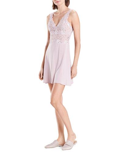 Rose Parfait Lace-Bodice Chemise
