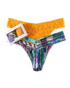 Hanky Panky Two-Pack Original-Rise Thongs in Bar Stripes