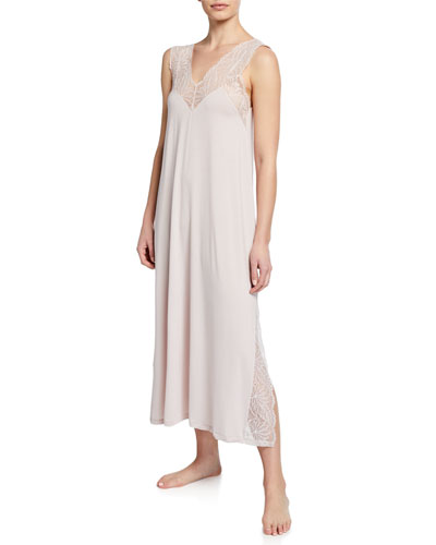 Sleeveless Long Jersey Nightgown