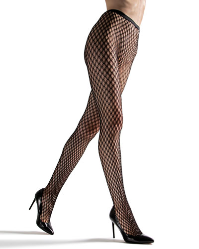 Double Weave Net Tights